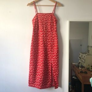 Zara red midi dress